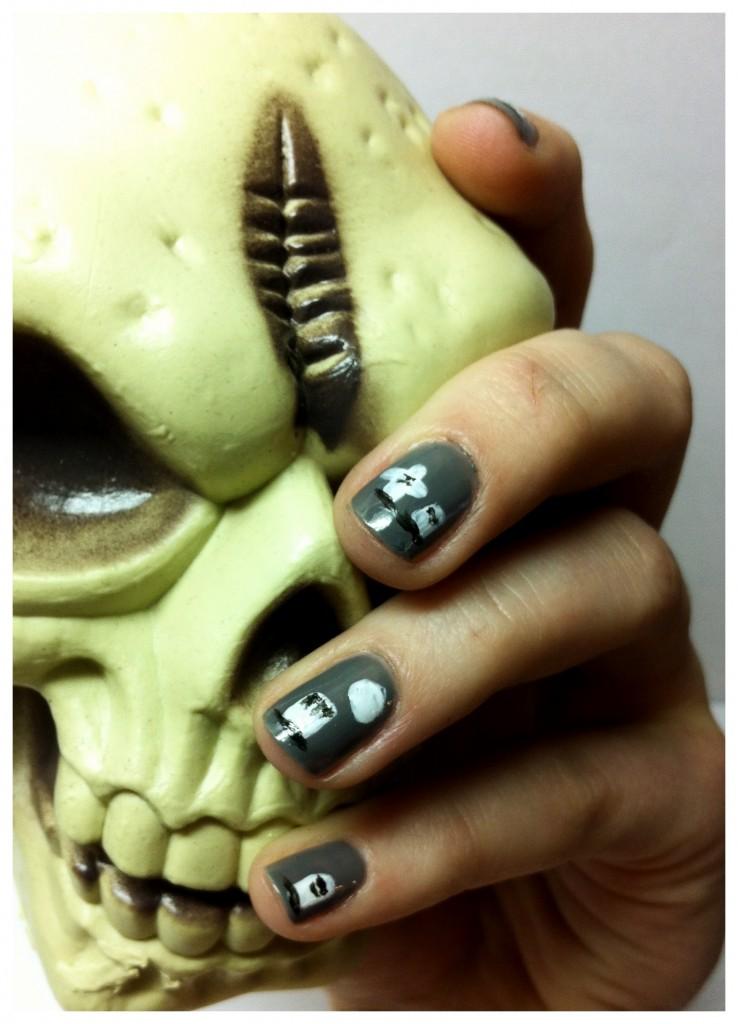 Halloween Graveyard Nails