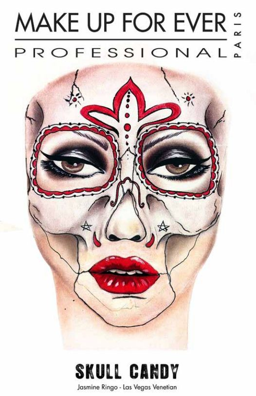 Skull Candy Halloween Makeup by Make Up For Ever