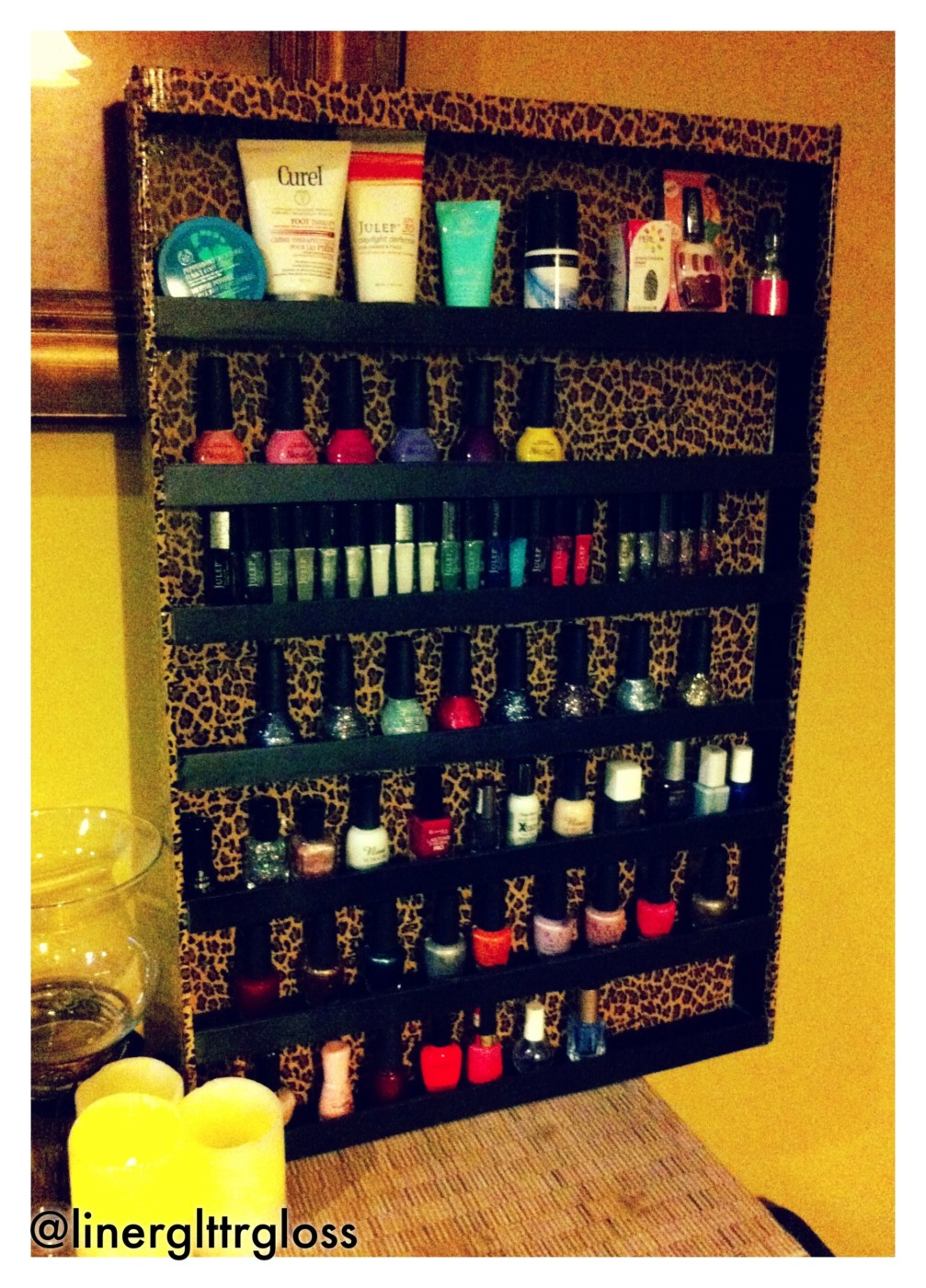 my Diy Nail Polish Rack