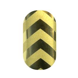Minx Gold & Matte Chevron Nails