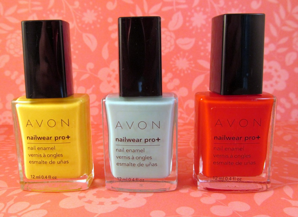 Avon Nailwear Pro + Nail Enamel in Make My Day, Serene and Inspire