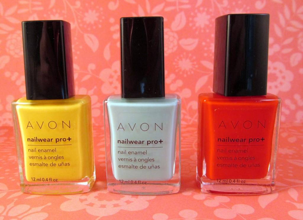 Avon Nailwear Pro + Nail Enamel in Make My Day, Serene and Inspire
