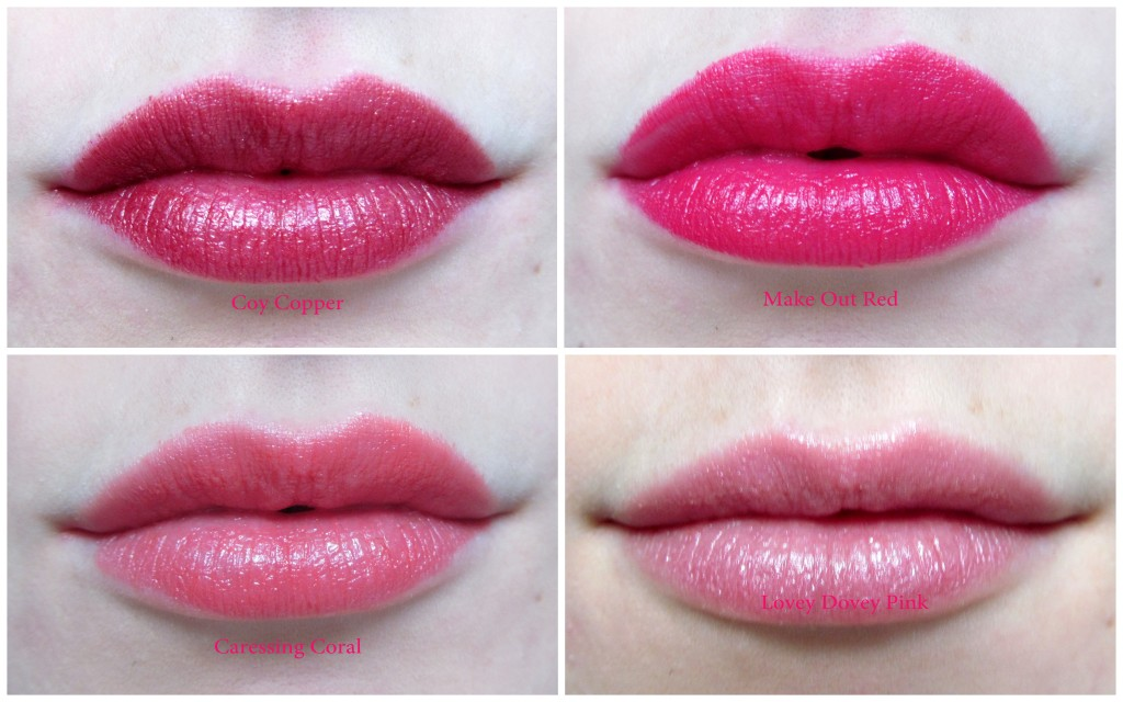 Totally Kissable Lipstick Swatches