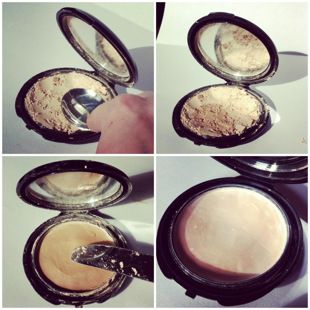 Repair broken makeup