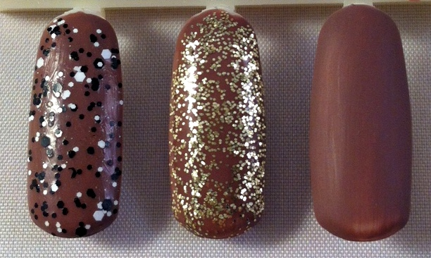 Greyt Expectations with (L-R) Confetti Top Coat, The Gold Top Coat, The Matte Top Coat