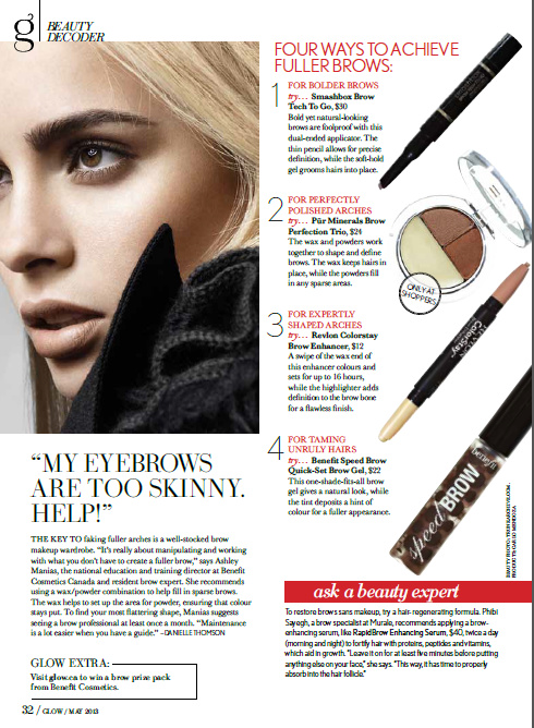 Glow Magazine Beauty Decoder May 2013
