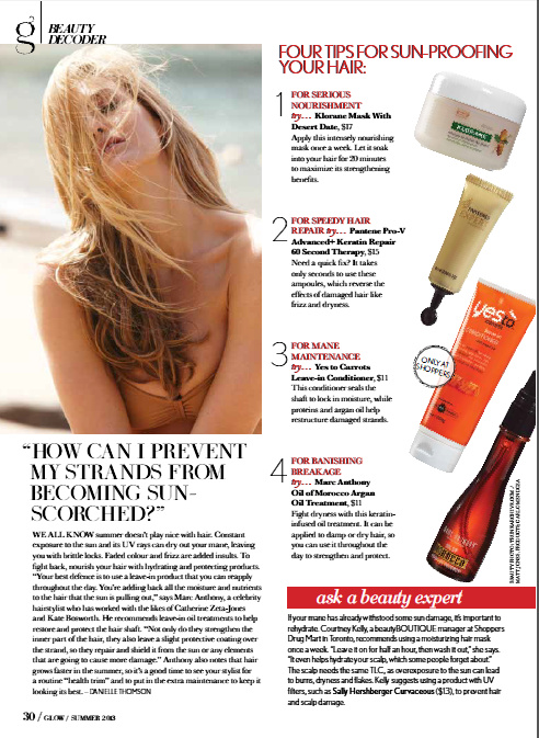 Glow Magazine Summer Beauty Decoder