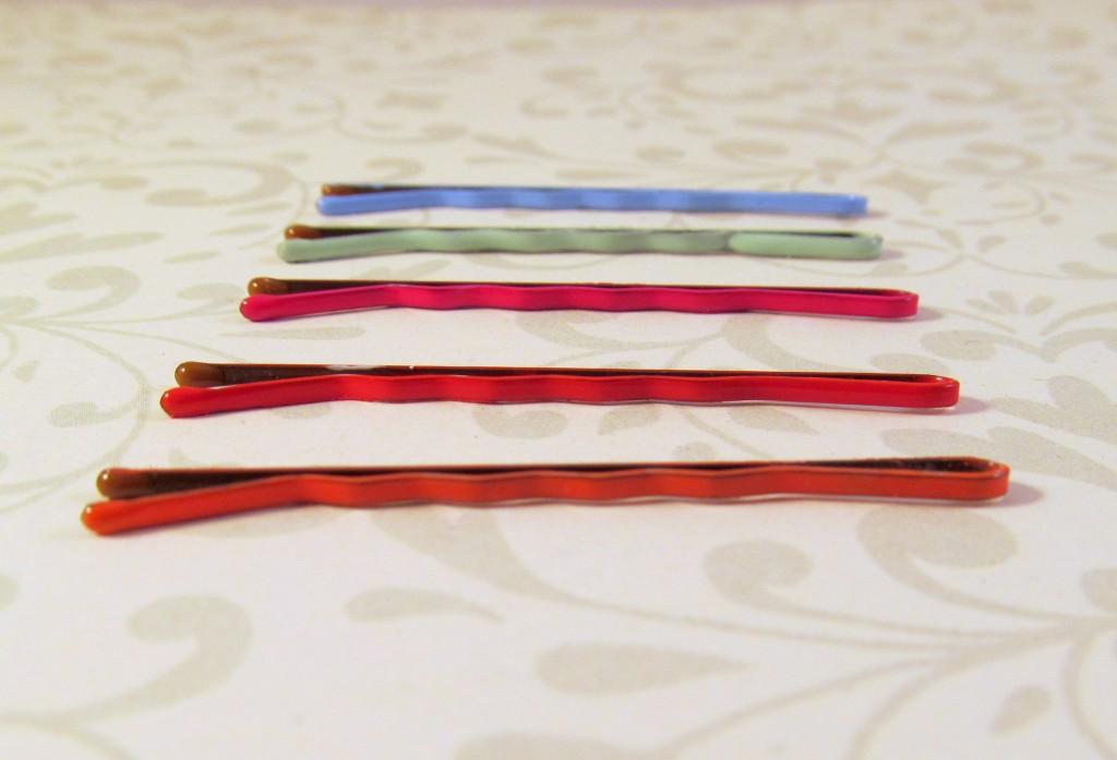 Coloured bobby pins