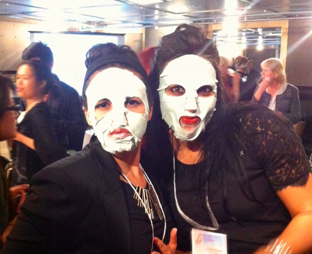 The lovely Rema and Anjali trying on Montagne Jeuness Clay Spa Masks