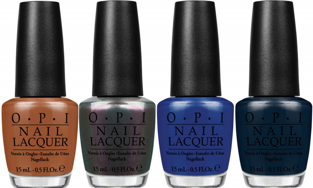 L-R: OPI A-Piers to be Tan, Peace & Love & OPI,  Keeping Suzi At Bay, Incognito in Sausalito
