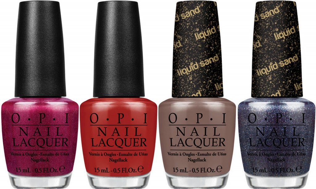 L-R: OPI Embarca-Dare Ya!, First Date at the Golden Gate, It's All San Andreas's Fault, Alcatraz... Rocks
