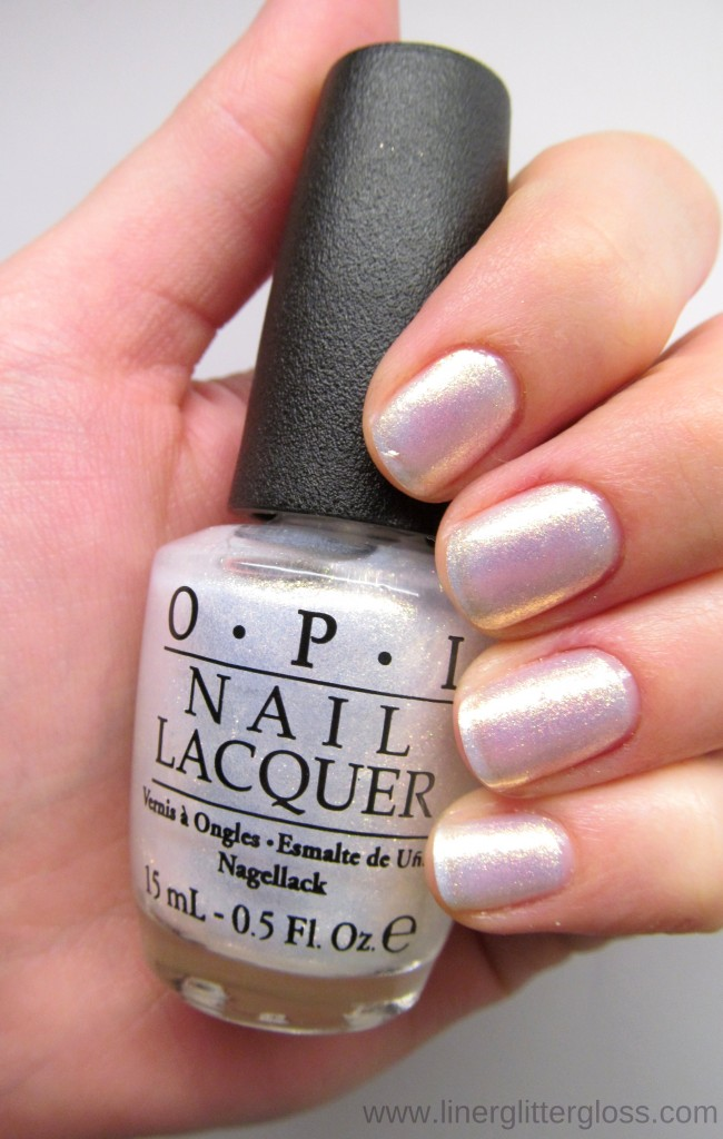 OPI Ski Slope Sweetie Swatch - OPI Mariah Carey Holiday 2013