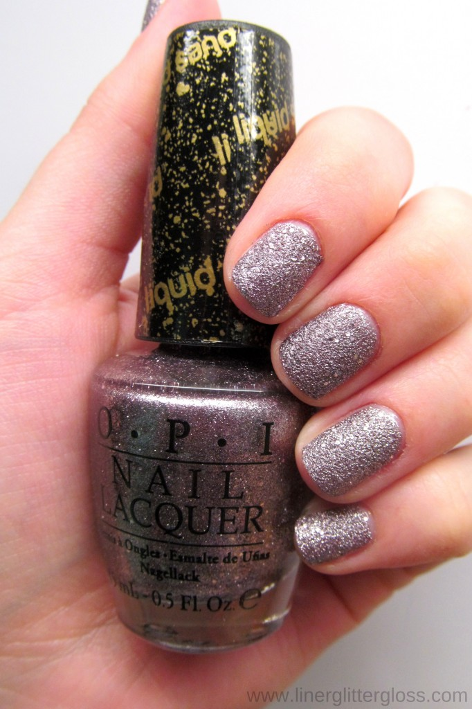 OPI Baby Please Come Home Liquid Sand Swatch - OPI Mariah Carey Holiday 2013
