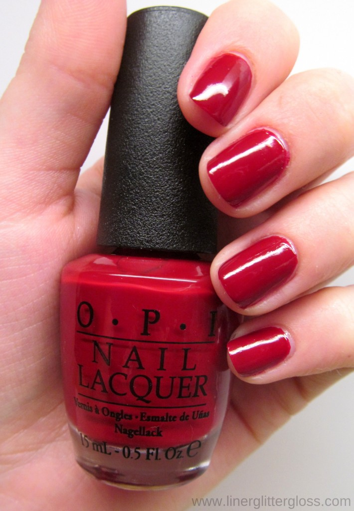 OPI All I Want For Christmas (Is OPI) Swatch - OPI Mariah Carey Holiday 2013