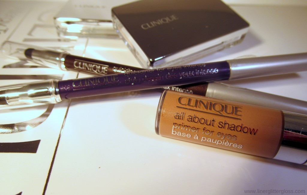 Clinique All About Shadow, All About Shadow Primer for Eyes, Quickliner for Eyes Intense