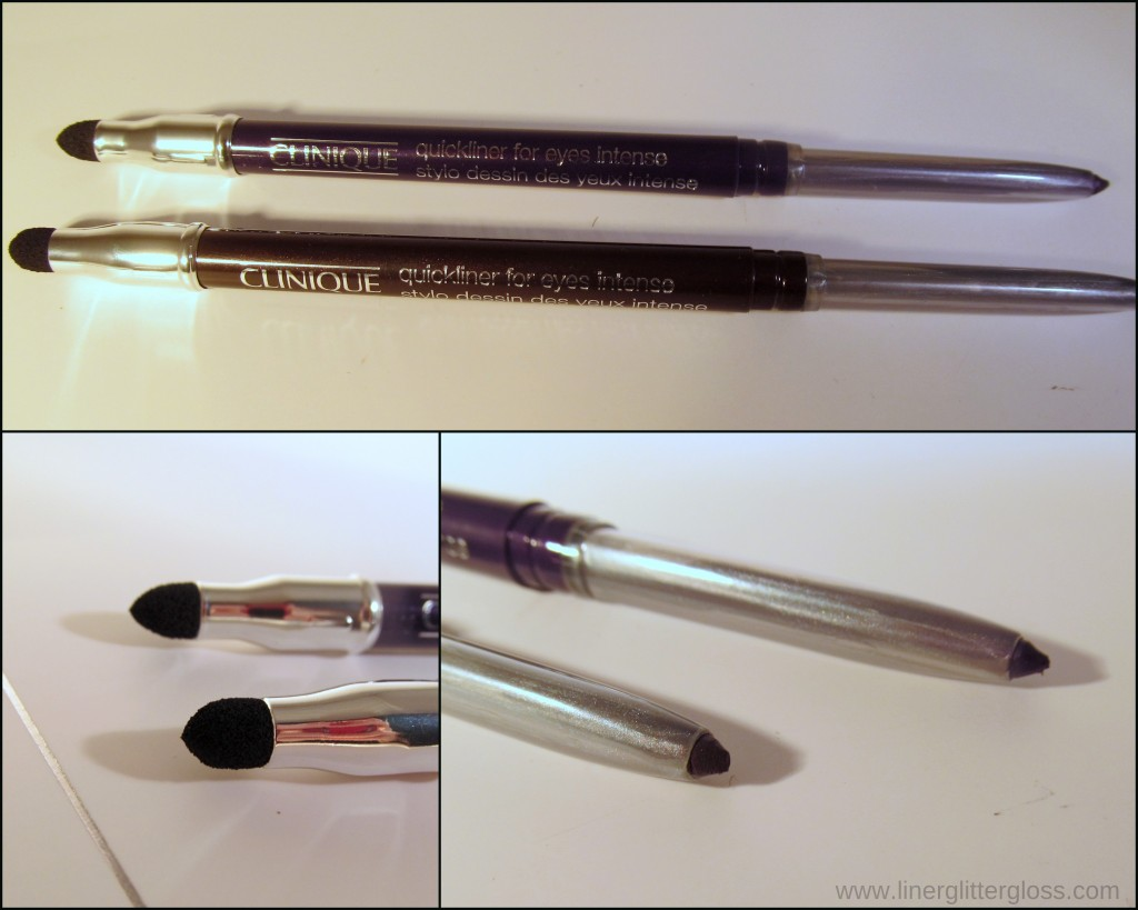 Clinique Quickliner for Eyes Intense in Intense Sable & Intense Amethyst