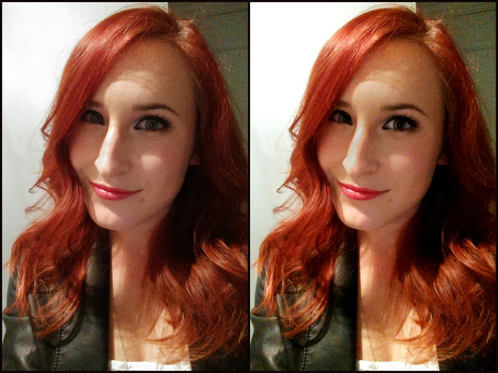 HTC One Selfie - Left is unedited, right has been edited using the HTC One