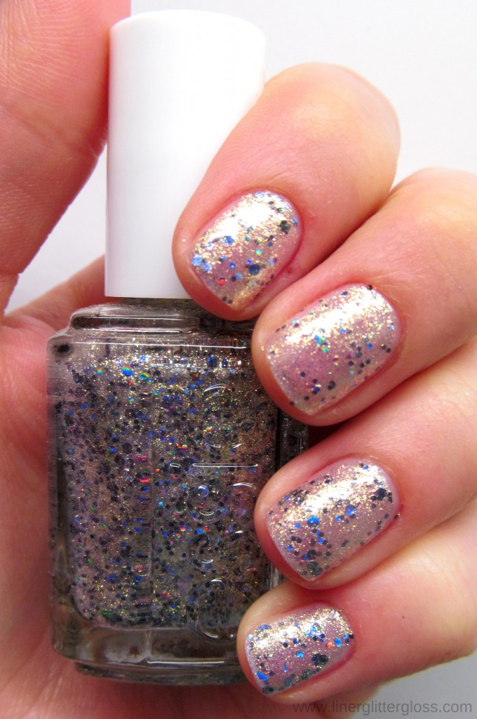 Essie On A Silver Platter Swatch Essie Encrusted Treasures