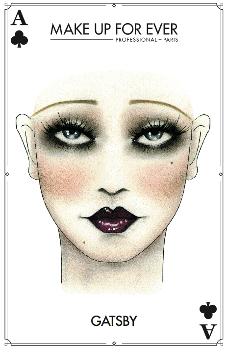 MAKE UP FOR EVER - Halloween Card - Gatsby
