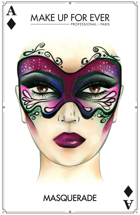 MAKE UP FOR EVER - Halloween Card - Masquerade