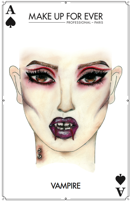 MAKE UP FOR EVER - Halloween Card - Vampire