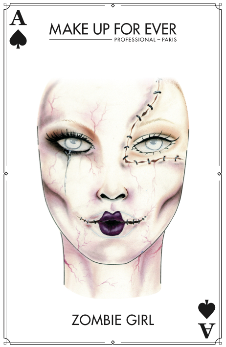 MAKE UP FOR EVER - Halloween Card - Zombie Girl