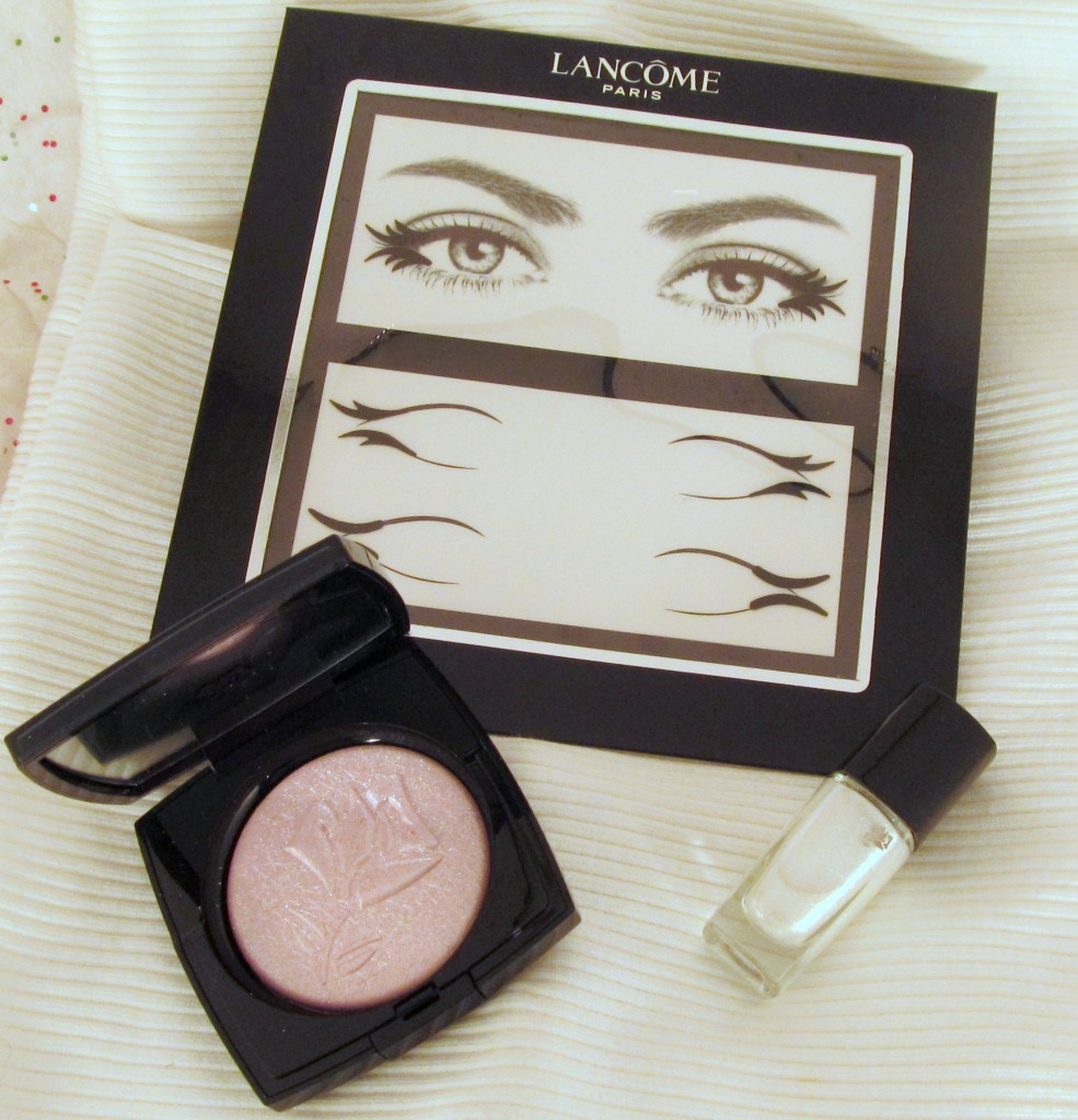 Lancome Christmas 2013 Collection, Lancome Rose Etincelle, Lancome Vernis in Love, Lancome Hypnose Velours