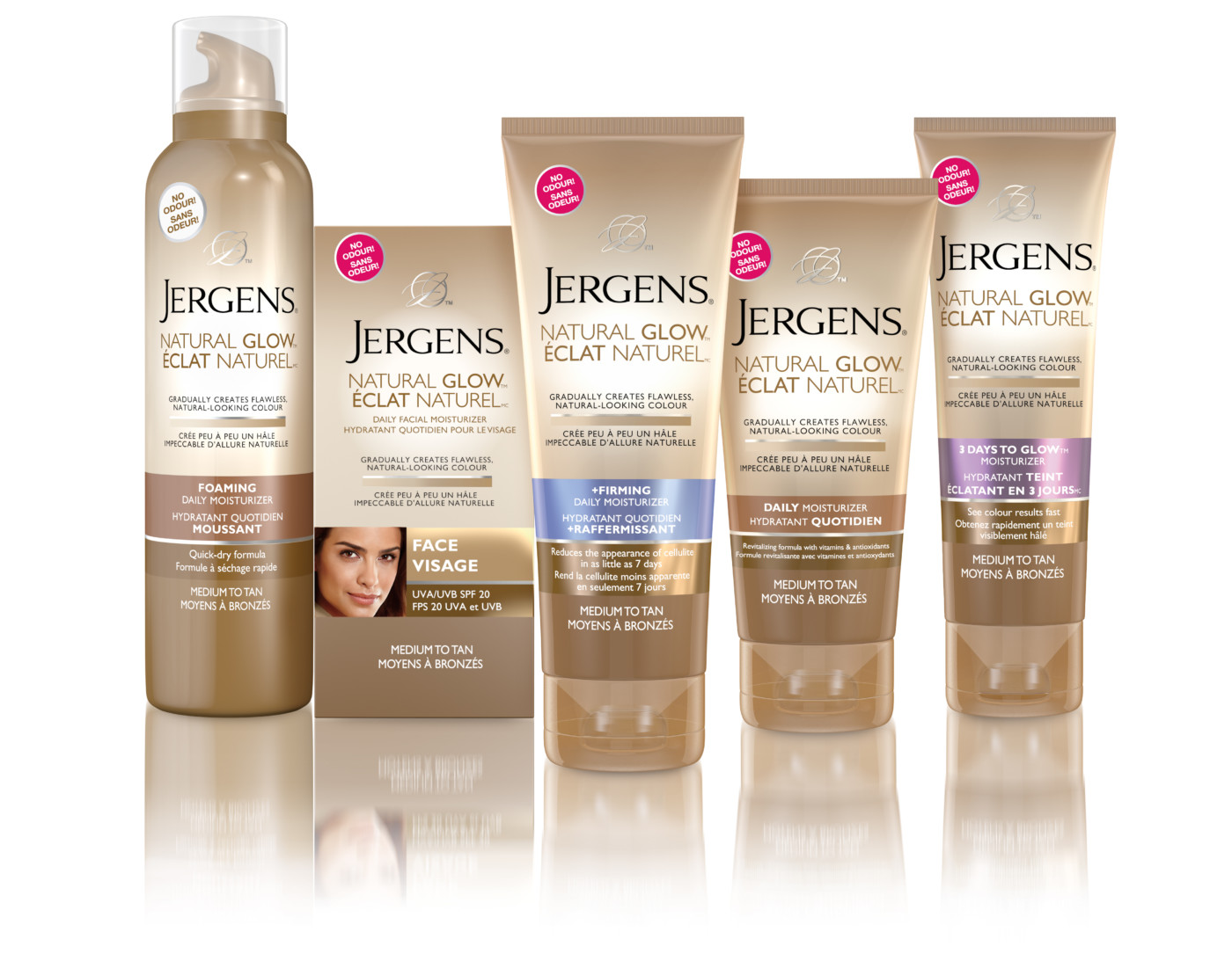 Jergens Natural Glow Foam On Face