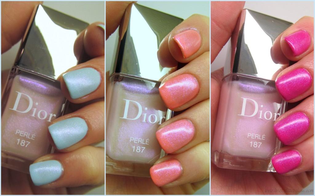 Dior Shimmering Matte Effect Top Coat Perle, Dior Vernis Trianon Edition, Dior Vernis Perle, Dior matte top coat, dior sugared-almond nails, sugar almond naisl