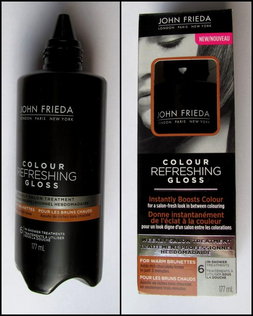 John Frieda colour refreshing gloss, colour refresh gloss, color refresh gloss, colour boost, hair dye, keep hair colour bright longer