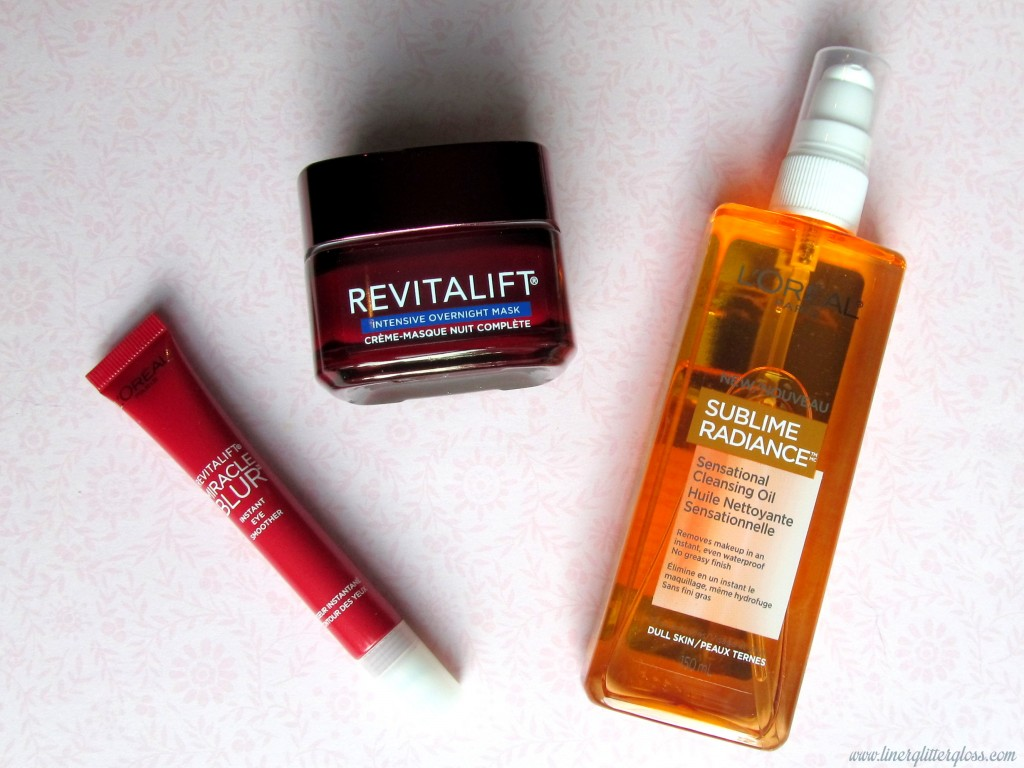 l'oreal paris revitalift miracle blur, l'oreal paris revitalift miracle blur instant eye smoother, l'oreal paris revitalift intensive overnight mask, l'oreal paris sensational cleansing oil, l'oreal paris skincare, miracle blur