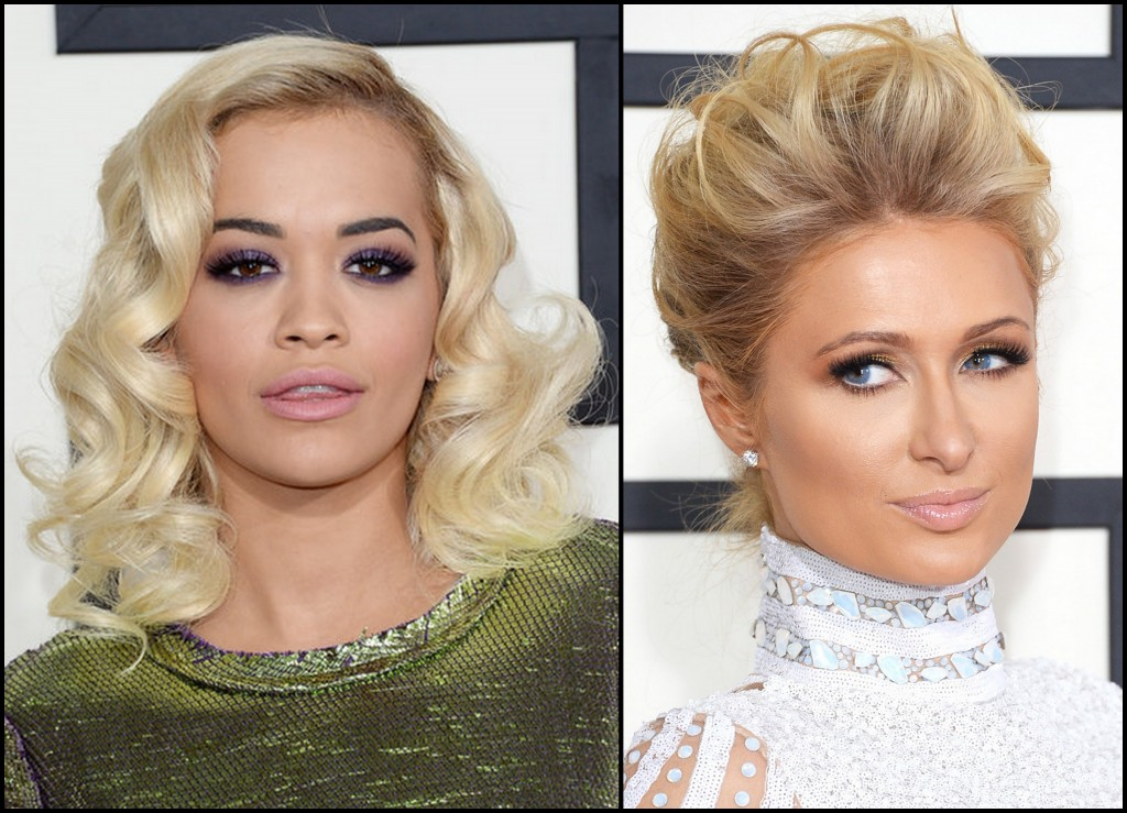 grammy beauty, grammy awards beauty 2014, rita ora grammy 2014, paris hilton grammy 2014, grammy beauty