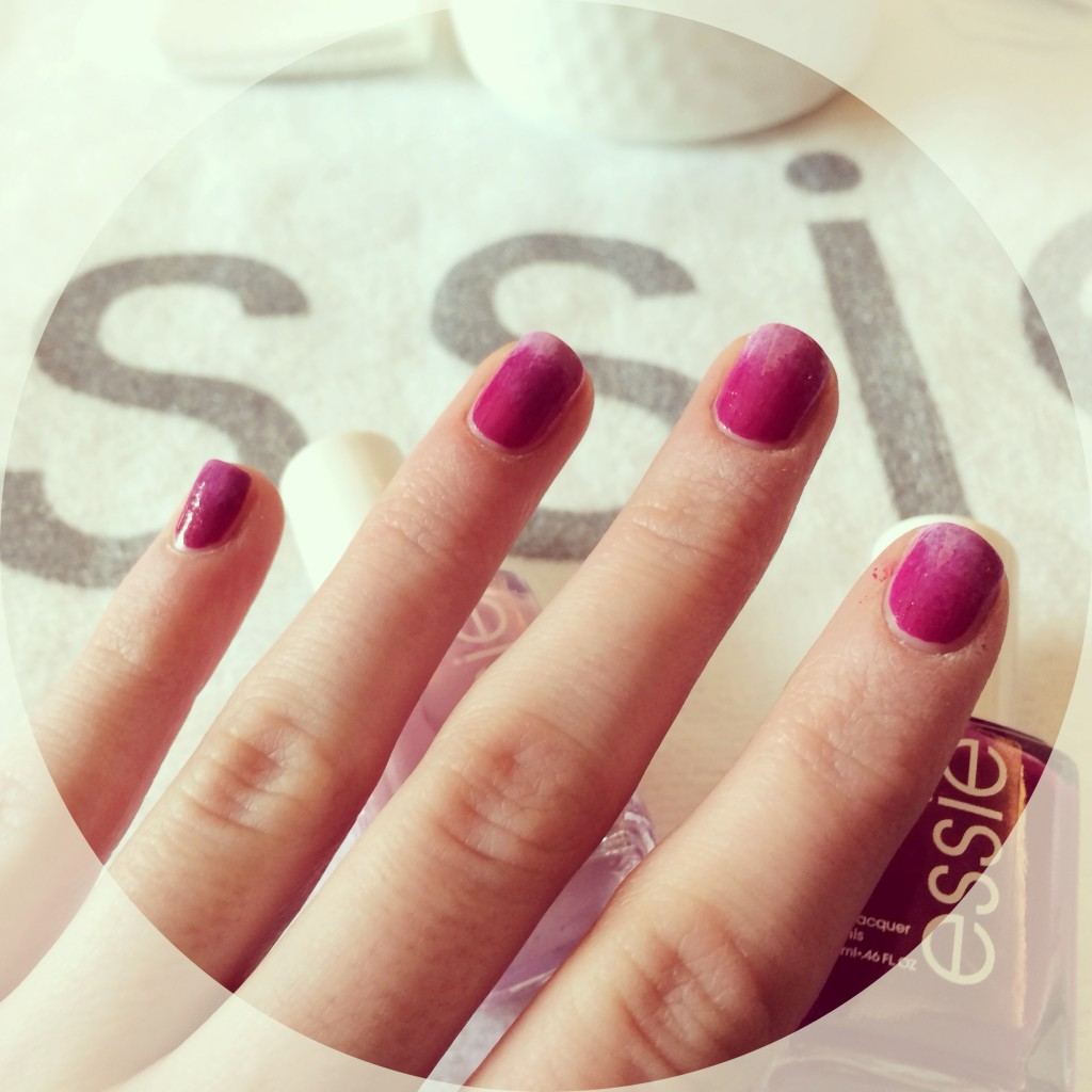 ombre nails, ombre essie, essie big spender, essie french affair, ombre nail tutorial, rita remark