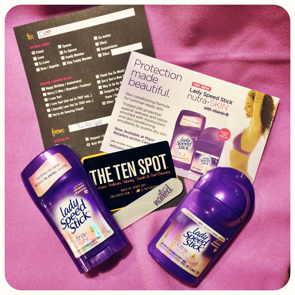 Lady Speedstick Nutri-skin, lady speedstick, the ten spot, antiperspirant, beauty blog, canadian beauty blog