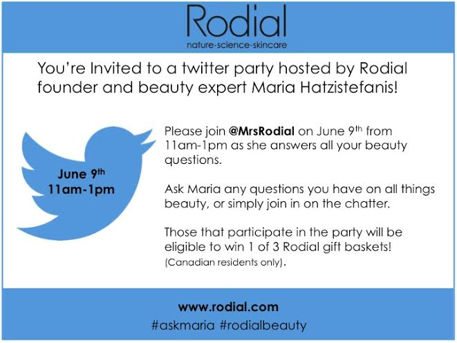 rodial, nip + fab twitter party, contest, giveaway