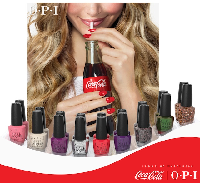 opi coca-cola, opi coke collection, opi coca-cola display