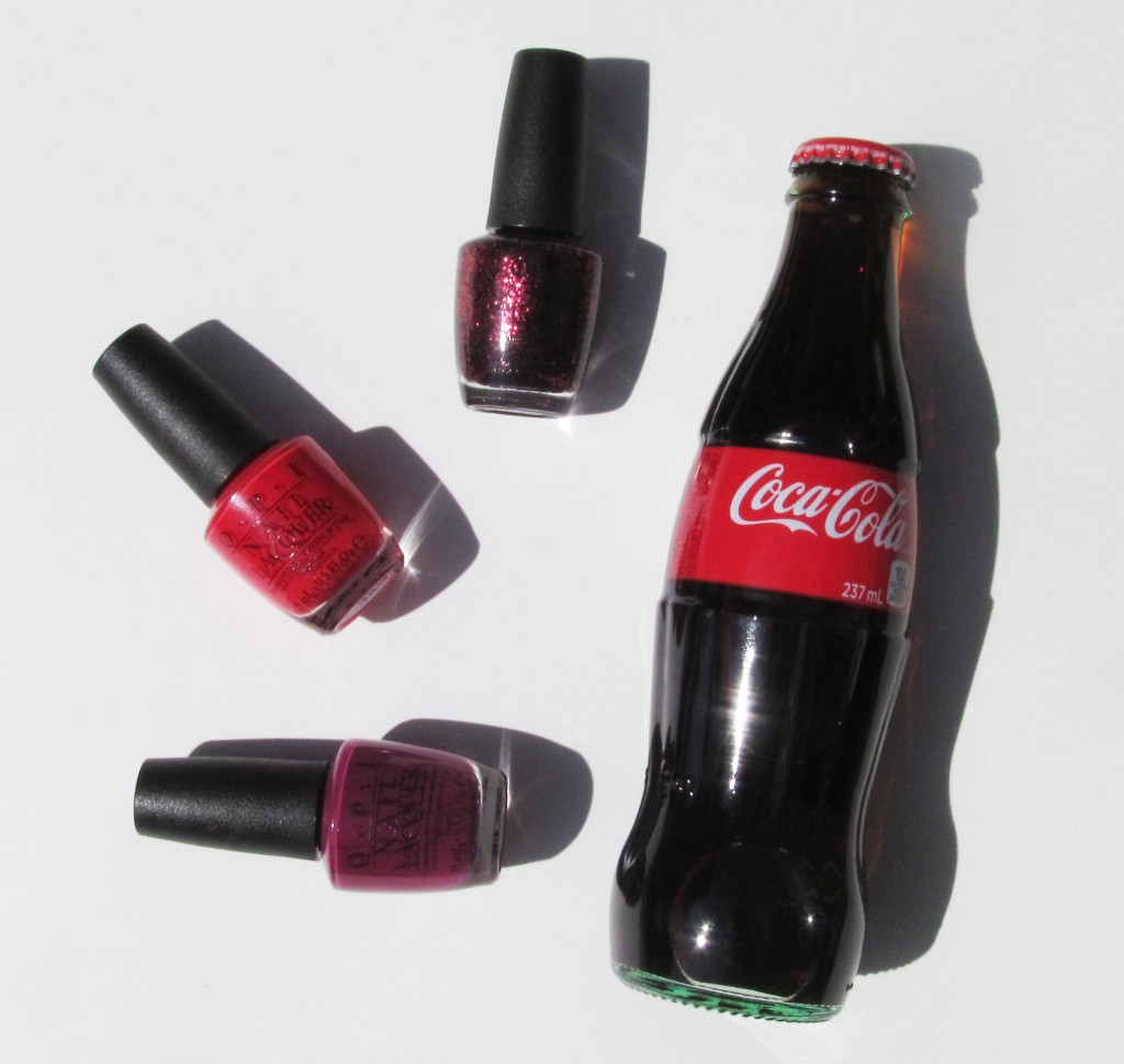 opi coca-cola, opi coke collection, opi coca-cola display