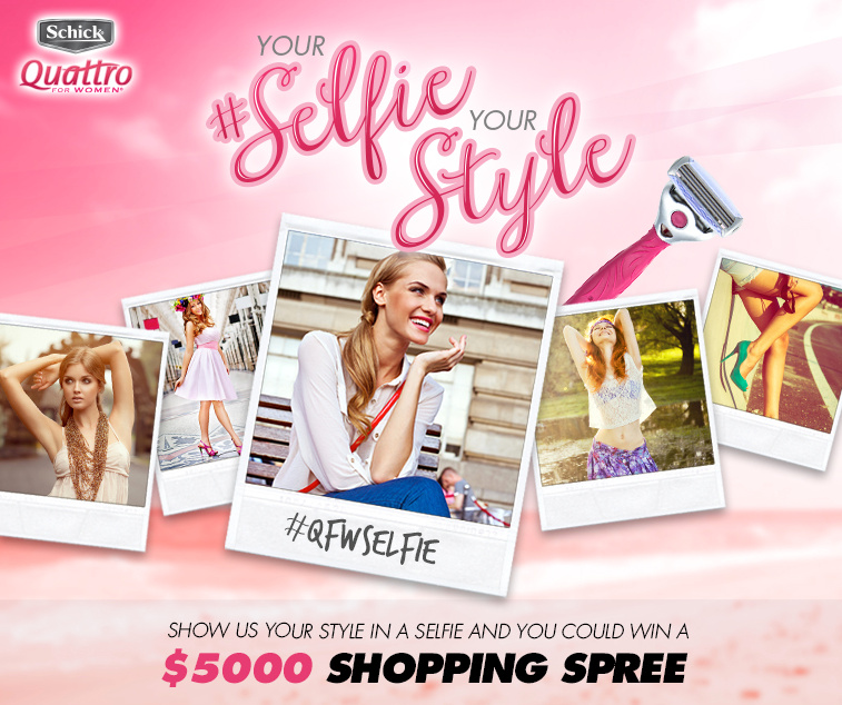 Your #Selfie, Your Style with Schick Quattro + Giveaway!