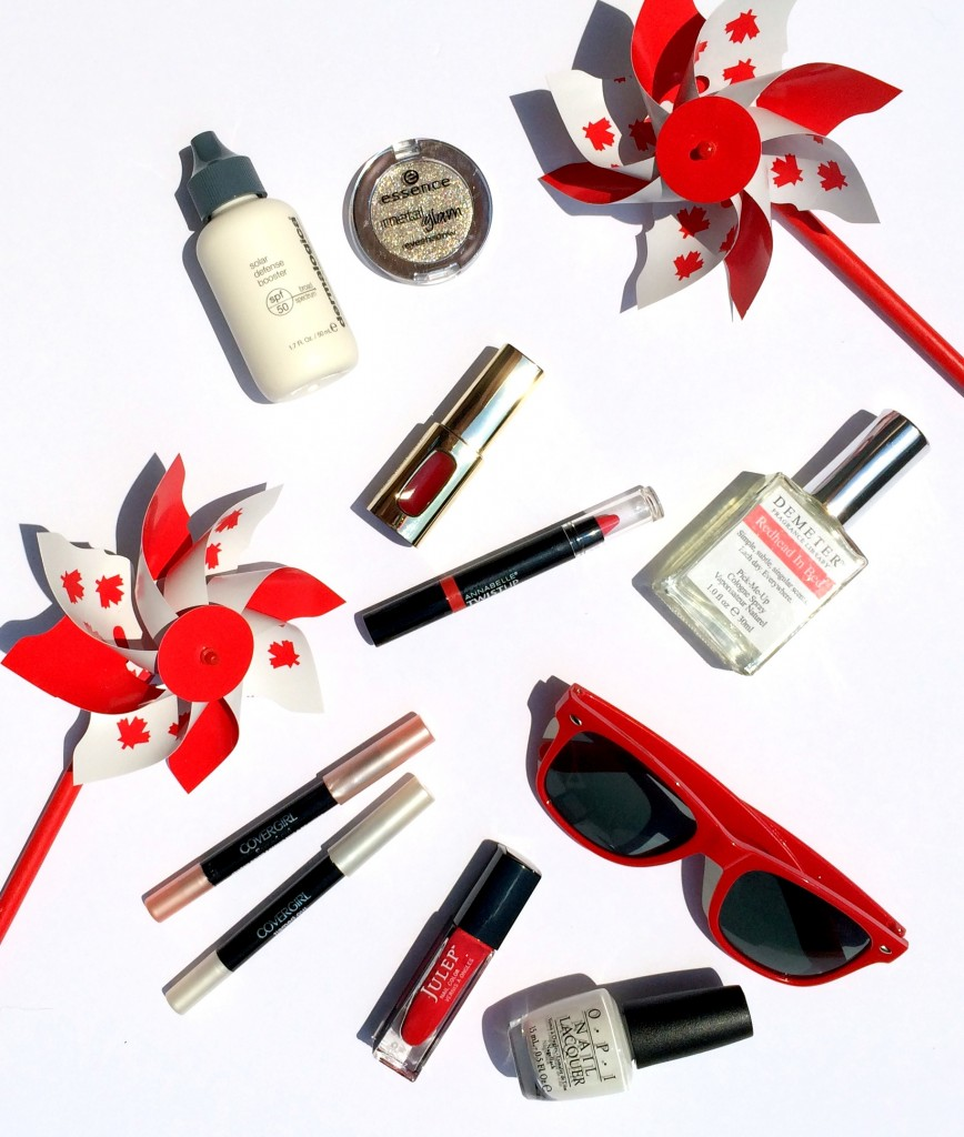 canada day beauty, canada day makeup, red and white, oh canada, canada beauty products