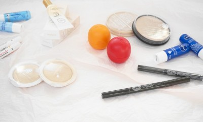 rimmel stay matte powder, e.l.f. essential clarifyin powder, elisa coy always nuddy cc cream, the face shop's design my eyebrow pencil, nivea lip balm, eos lip balm, softlips lip balm, beauty essentials, beauty back ups, the beauty critic, ling chiu
