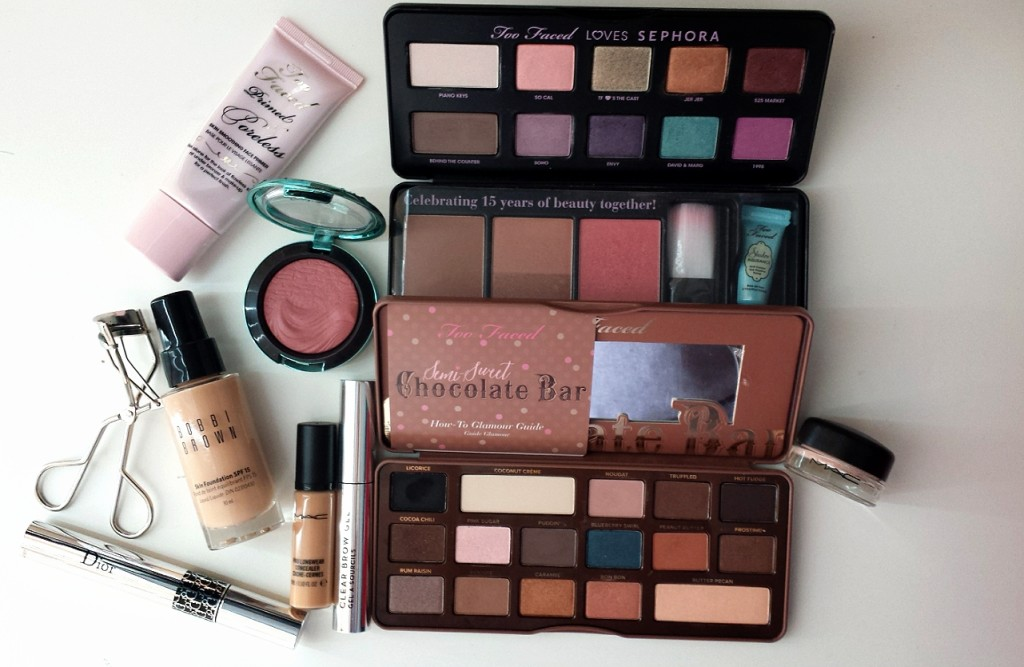 too faced x sephora, too faced love sephora palette, too faced sephora palette, too faced chocolate bar palette, too faced chocolate bar tutorial, mac paint pot, david & marg, mousse and pydding, butter pecan, miranda chan, miranda loves, bbloggersca