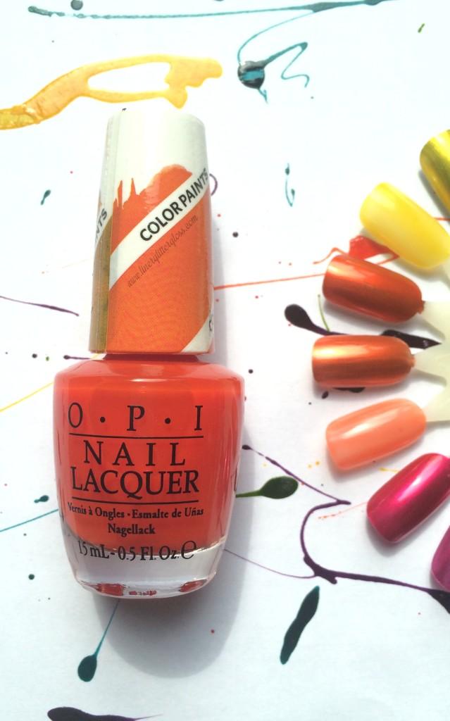 OPI color paint, opi color paints, opi colorpaint, opi color paints, opi color paints review, opi color paints swatches, opi polish for nail art, opi sheer polish, opi sheer nail lacquer, opi nail art, what polish to use for nail art, opi summer 2015, opi spring 2015, opi summer 2015 swatches, opi color paint chromatic orange, opi colorpaint chromatic orange, opi chromatic orange swatch, opi color paint chromatic orange swatch