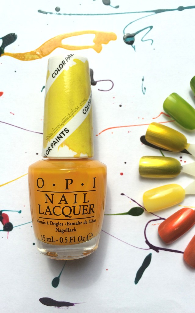 OPI color paint, opi color paints, opi colorpaint, opi color paints, opi color paints review, opi color paints swatches, opi polish for nail art, opi sheer polish, opi sheer nail lacquer, opi nail art, what polish to use for nail art, opi summer 2015, opi spring 2015, opi summer 2015 swatches, opi color paint primarily yellow, opi colorpaint primarily yellow, opi color paint primarily yellow swatch, opi primarily yellow swatch