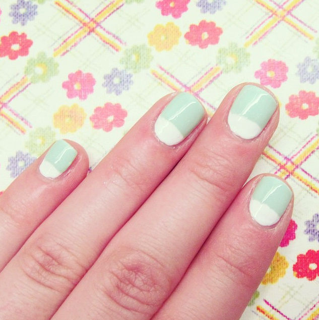 summer nails, summer mani, blue nail polish, best manicure for summer, nail inspiration, nail blogger, nail art, easy nail art, diy nail art, opi, ceramic glaze, essie, shoppers drug mart nail polish, half moon nails, half moon mani
