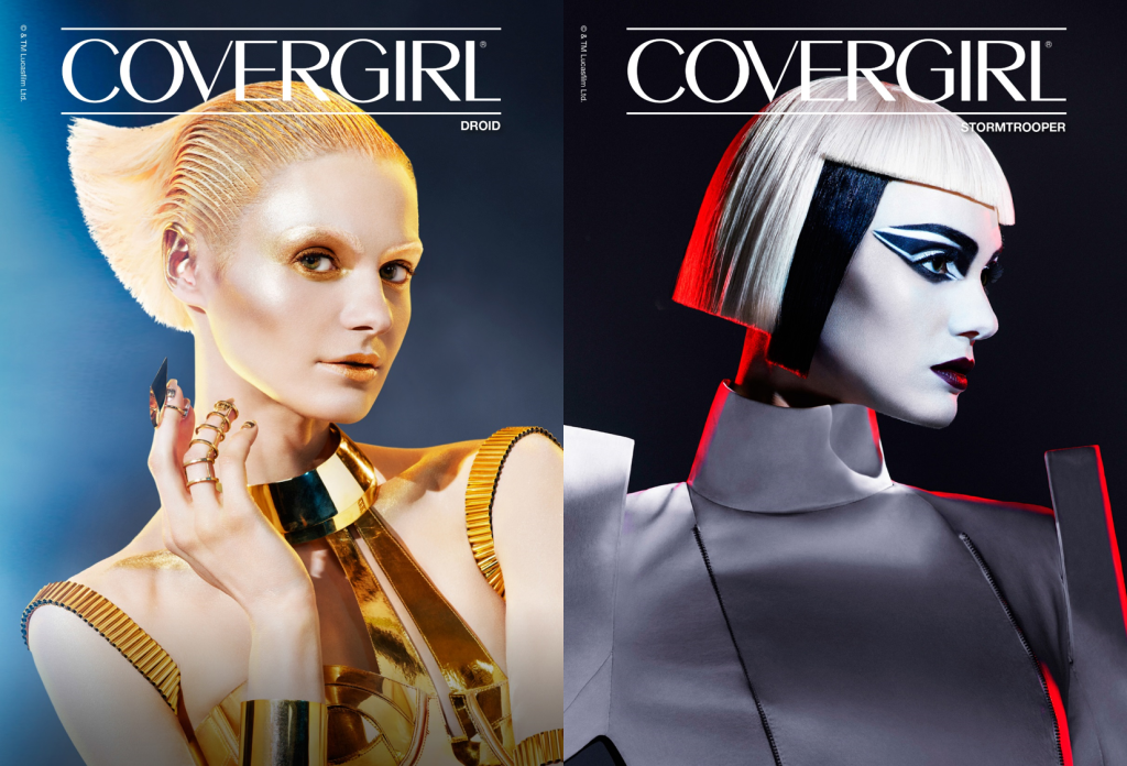 covergirl star wars, star wars makeup, covergirl star wars collection, droid makeup, stormtrooper makeup, covergirl star wars makeup collection available, when is the covergirl star wars makeup available, where to find star wars makeup, star wars makeup looks