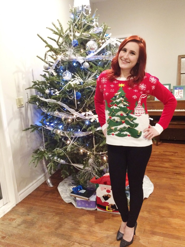 ugly christmas sweater, dixie mall, urban planet christmas sweater, where to find ugly christmas sweater, ugly christmas sweater in canada, christmas party outfit