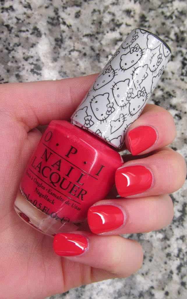 opi helly kitty, opi hello kitty collection, hello kitty nail polish, opi hello kitty review, opi hello kitty swatches, hello kitty swatches, opi 5 apples tall, opi 5 apples tall swatch, opi red nail polish