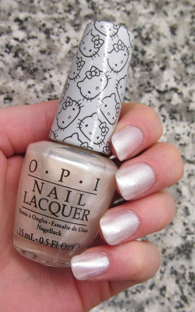 opi helly kitty, opi hello kitty collection, hello kitty nail polish, opi hello kitty review, opi hello kitty swatches, hello kitty swatches, opi kitty white, opi kitty white swatch, kitty white nail polish, kitty white swatch, frosted white nail polish