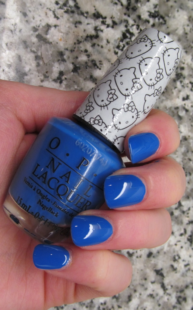 opi helly kitty, opi hello kitty collection, hello kitty nail polish, opi hello kitty review, opi hello kitty swatches, hello kitty swatches, opi my pal joey, opi my pal joey swatch, my pal joey swatch, blue nail polish, bright blue nail polish