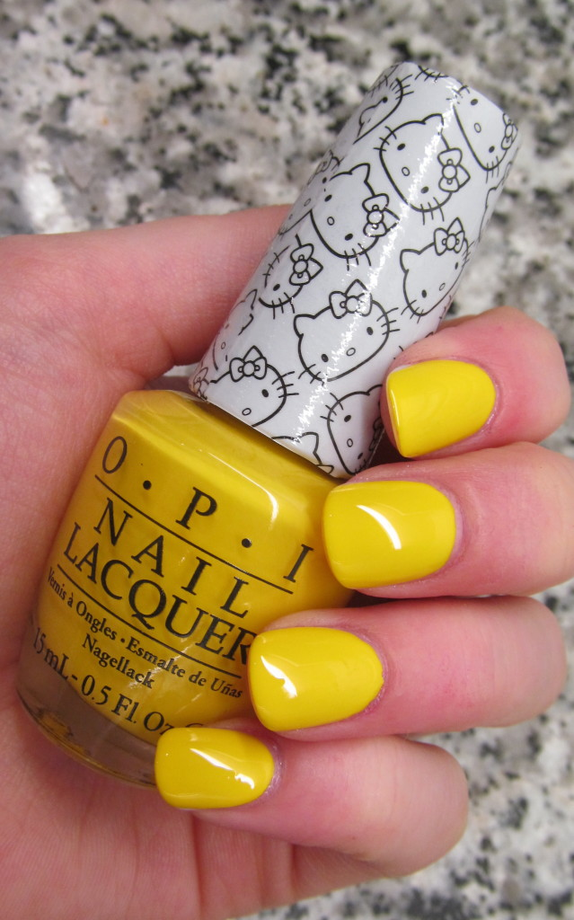 opi helly kitty, opi hello kitty collection, hello kitty nail polish, opi hello kitty review, opi hello kitty swatches, hello kitty swatches, opi my twin mimmy, opi my twin mimmy swatch, yellow nail polish, opi yellow nail polish, where to buy yellow nail polish, bright yellow nail polish